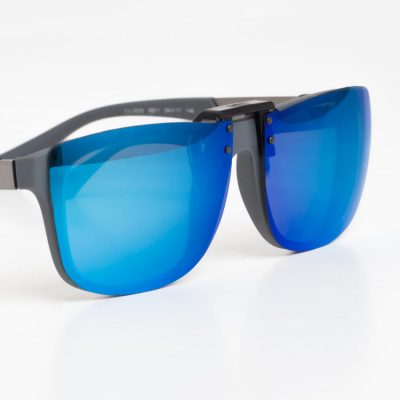 blue clipons sunglasses