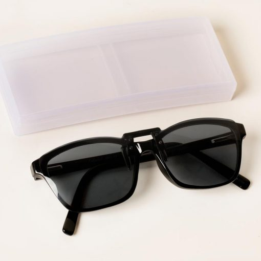 grey clipon sunglasses