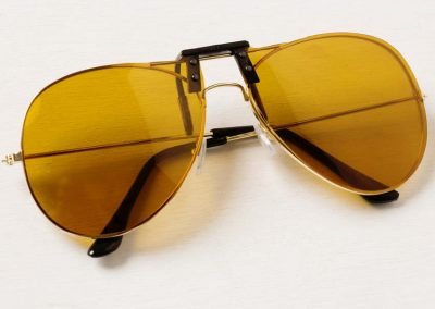 yellow clip on sunglasses